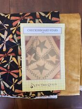 New listing Fig Tree Quilts Checkerboard Stars Quilt Kit