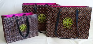 Set of 3 TORY BURCH Gift Tote Paper SHOPPING BAG - 2 Large and 1 Medium