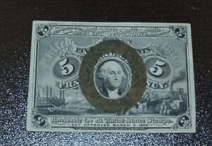 5 Cents Second Issue Fractional Currency Fr#1232 1863