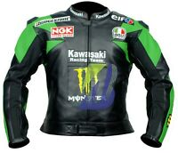 *KAWASAKI GREEN,RED,PURPLE,BLACK* MOTORCYCLE LEATHER JACKET Biker's MOTOGP