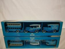 KLM OLTIMER SET No 2 - BUS + TRAVEL AGENCIES + CATERING - NEAR MINT IN BOX