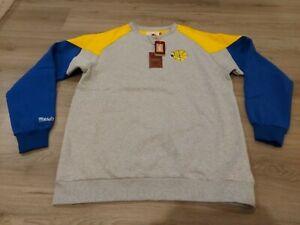 Mitchell & Ness Golden State Warriors Crew Neck Pullover Sweatshirt men's Sz XLT
