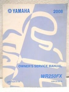 Wr250f Motorcycle Repair Manuals Literature For Sale Ebay