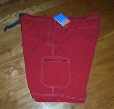 NWT Columbia Palmerston Peak Red Water Short Swim Trunk Size  1X 42