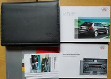 GENUINE AUDI A3 SPORTBACK HANDBOOK OWNERS MANUAL WALLET 2005-2008 PACK D-159 !