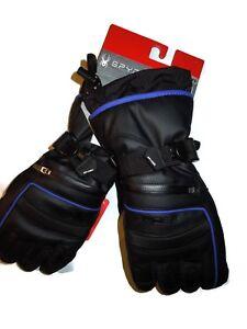 Spyder women's ski snowboard winter Black Gloves XS retail $100