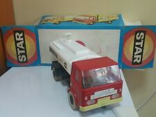 VINTAGE STAR TOY TRUCK CISTERN BENZYNA LARGE FRICTION POWERED POLAND ORIG. BOX