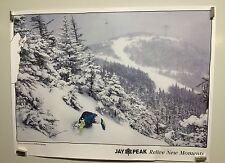 original vintage travel poster Jay Peak