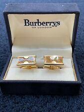 Burberrys of London Men's Rectangle hourglass? Cuff Links Cufflinks with box
