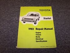 1983 Toyota Starlet Hatchback Original Workshop Shop Service Repair Manual Book