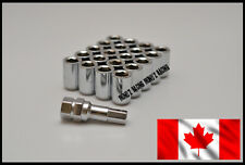 20pc Lock Lug Nuts 12x1.5 Open-end Cone Seat Chrome