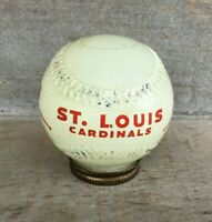 *Vintage 1950s ST. LOUIS CARDINALS Glass Baseball Shaped Coin Bank
