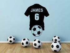 PERSONALISED Football Shirt Wall Art Sticker, Vinyl Decal, Soccer Shirt