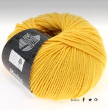11,00 €/ 3.5oz LANA GROSSA Cool Wool Merino 1.8oz Felt Free Colour 419 Yellow