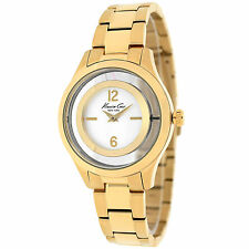 KENNETH COLE NY DRESS SILVER DIAL GOLD-TONE ST. STEEL LADIES WATCH 10026946 NEW