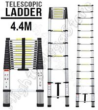 NEW 4.4M Alloy Telescopic Aluminium Ladder Alloy Extension Extendable Multi