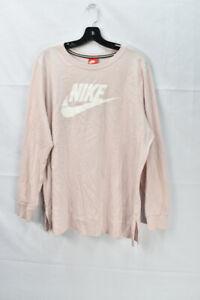 Nike Women's 1x Plus Size Crew Neck Long-Sleeve T-Shirt, Pink, *Defect
