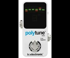 TC Electronic PolyTune2 Mini Chromatic Guitar Tuner Pedal, NEW
