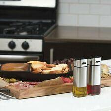 Olive Oil and Vinegar Cruet Dispenser Set with Elegant Glass Bottle Chefvantage
