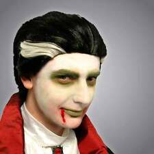 Vampire Dracula Wig - Adult Fancy Dress Party - Scary Black Grey Halloween