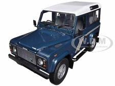 LAND ROVER DEFENDER 90 STATION WAGON BLUE 1/18 BY UNIVERSAL HOBBIES 3886