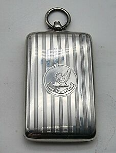VERY NICE ANTIQUE SOLID STERLING SILVER DOUBLE SOVEREIGN CASE CHESTER 1914
