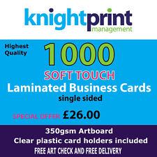 1000 Soft Touch feuilleté cartes professionnelles, simple face, 350gsm soie