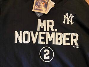 Black Derek Jeter HOF New York Yankees Warm Up Long Sleeve Shirt Jersey