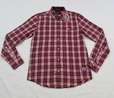 Scotch & Soda Mens Red Multicolor Plaid Flannel Button up Shirt sz S Nwt
