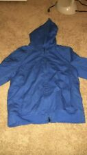 Armani Exchange A|X Mens Royal Blue Hooded Coat L