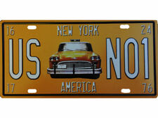 Deko US Nummernschild Design Taxi NEW YORK Schild No1 15x30cm Amerika