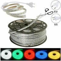 LED Strip 110V/220V 5050 SMD 60LED/M IP67 Waterproof Tape Lights Rope With Plug