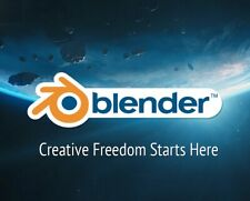 Latest Blender 2.80 3D Modelling Creation Suite 32 or64 bit DVD Windows Software