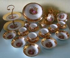 Service en porcelaine Bavaria à café / thé décor Fragonard et or +