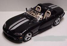 1:18  Bburago 1993 Black and Silver Dodge Viper RT/10 Item 3365