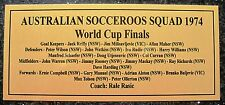 Socceroos 1974  World Cup Squad 180x80mm