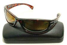 SUNCLOUD HOOK DQ Brown Plastic Rectangular Wrap Polarized Sunglasses