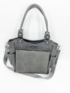 Petunia Pickle Bottom Embossed Champs Elysees Stop City Carryall Gray