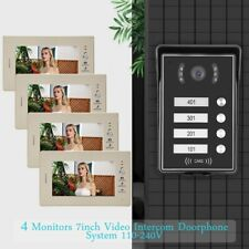 4-Familienhaus Video Sprechanlage Türsprechanlage Intercom 7