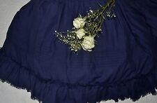 """Soft Surroundings Heritage Linen Bedskirt Navy King 17"""" Drop Orig $199"""