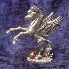 Pewter Pegasus - Satin Finish - Colorful Crystal Accent