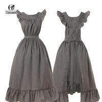 Pioneer Prairie Colonial Apron Civil War Reenactment Dress Acc Maid Apron M/L