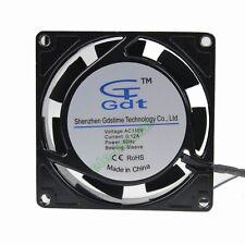 110V 2Wire Brushless Computer Cooling Fan 8cm Fan 80mm 80x80x25mm Sleeve Bearing