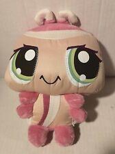 "9"" Littlest Pet Shop Plush Pink & White Ladybug Hasbro 2008 Wackiest"