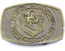 Sertoma International Belt Buckle Vintage