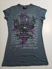 Harley-Davidson 110 Years Womans Small Blue Purple Tshirt El Paso Texas