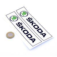 Skoda Oblong STICKERS Badge Decal Vinyl Car 150mm x2 Race Racing Rally