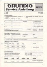 GRUNDIG - RF 830 - 2/82 - Service Anleitung - B3383