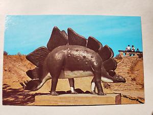Vintage Postcard - Small Dinosaur Rapid City Dinosaur Park- Rushmore News