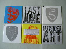 GALLOWS job lot of 6 promo CD singles Last June Outsider Art The Vulture